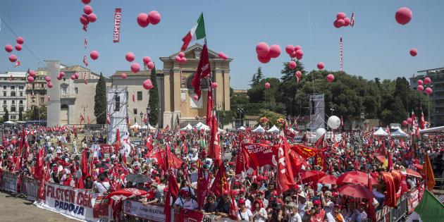 17/06/2017, Roma - Manifestazione nazionale CGIL contro i voucher.